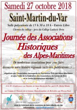 Journée des Associations Historiques des Alpes-Maritimes @ Salle polyvalente | Saint-Martin-du-Var | Provence-Alpes-Côte d'Azur | France