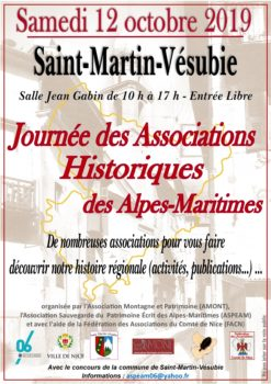 Journée des Associations Historiques des Alpes-Maritimes @ St-Martin-Vésubie | Saint-Martin-du-Var | Provence-Alpes-Côte d'Azur | France